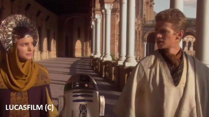 """""""Gwiezdne Wojny: Atak klonów"""" i Sewilla (plac Hiszpański) jako Naboo"""
