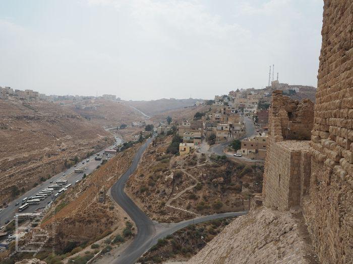Panorama z murów zamku Al-Karak