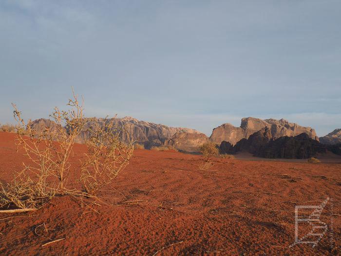 Czerwona pustynia i góry
