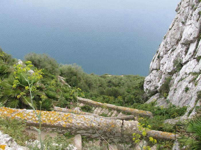 Widok z góry na Mediterranean Steps, Gibraltar