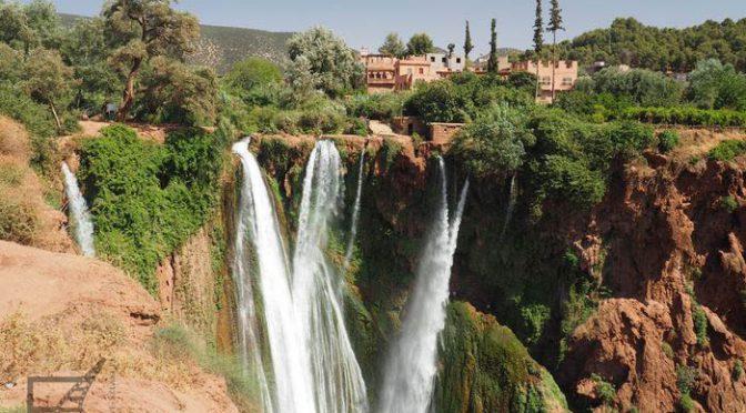 Kaskady Ouzoud, największy wodospad Maroka