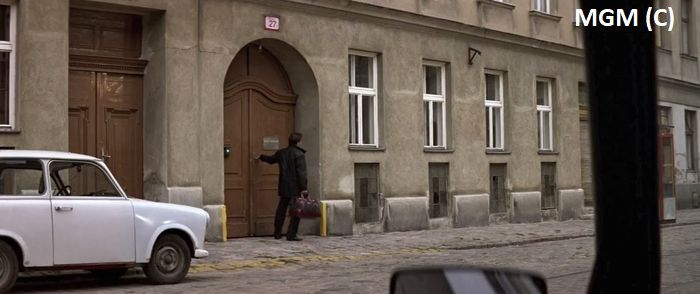 Apartament Kary w filmie (Wiedeń udający Bratysławę)
