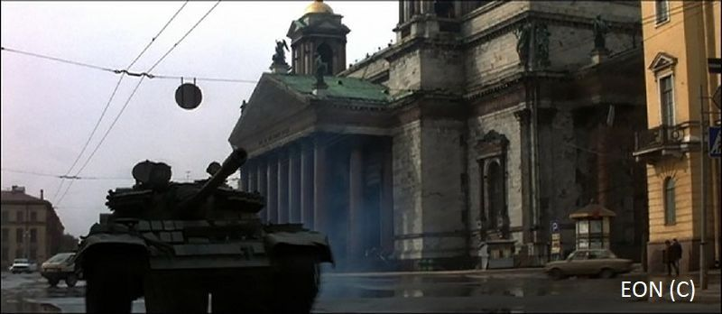 Sobór św. Izaaka, Sankt Peterburg i James Bond 007 w czołgu