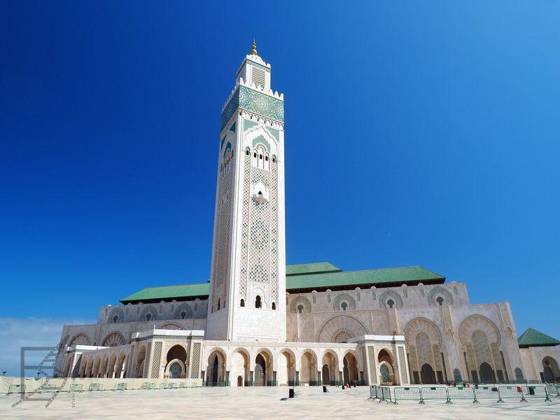 Meczet Hasana II w dzień (Casablanca)