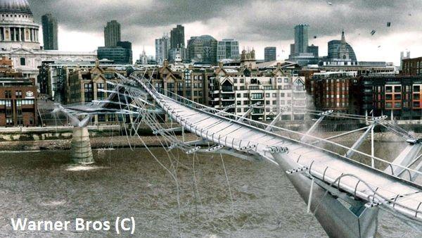 """Harry Potter i książę półkrwi"", Millennium Bridge, Londyn"