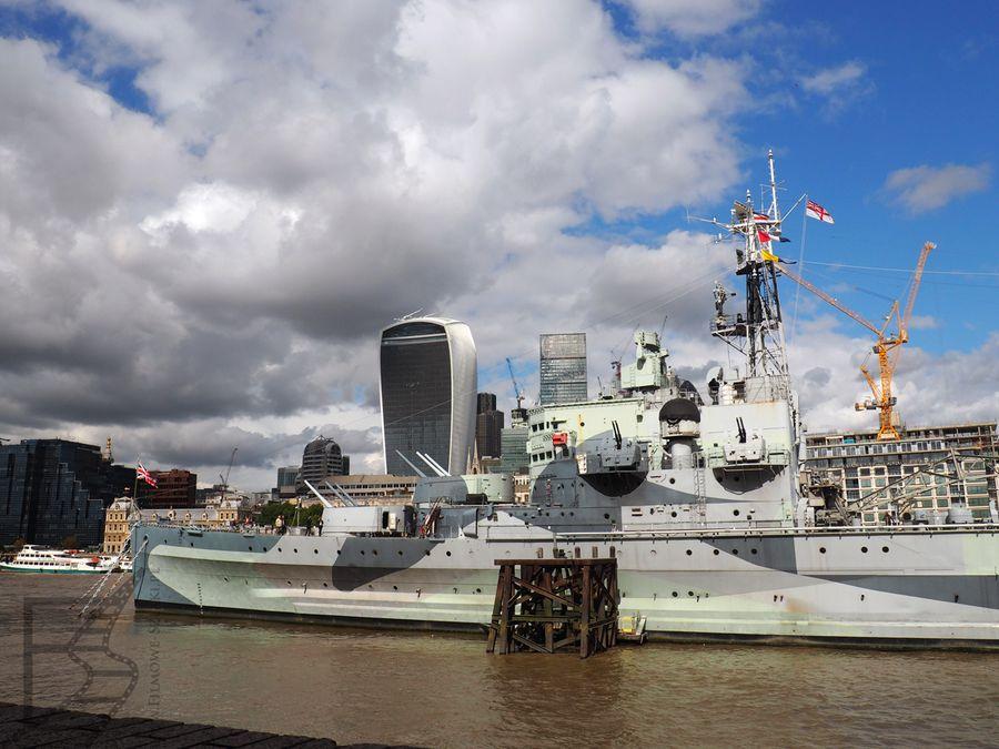 "HMS ""Belfast"", Londyn, Tamiza"