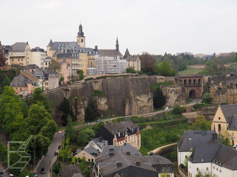 Widok na stare miasto Luksemburg