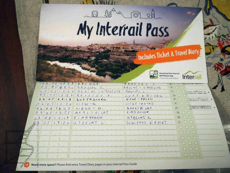 Wypełniona i kontrolowana karta Interrail