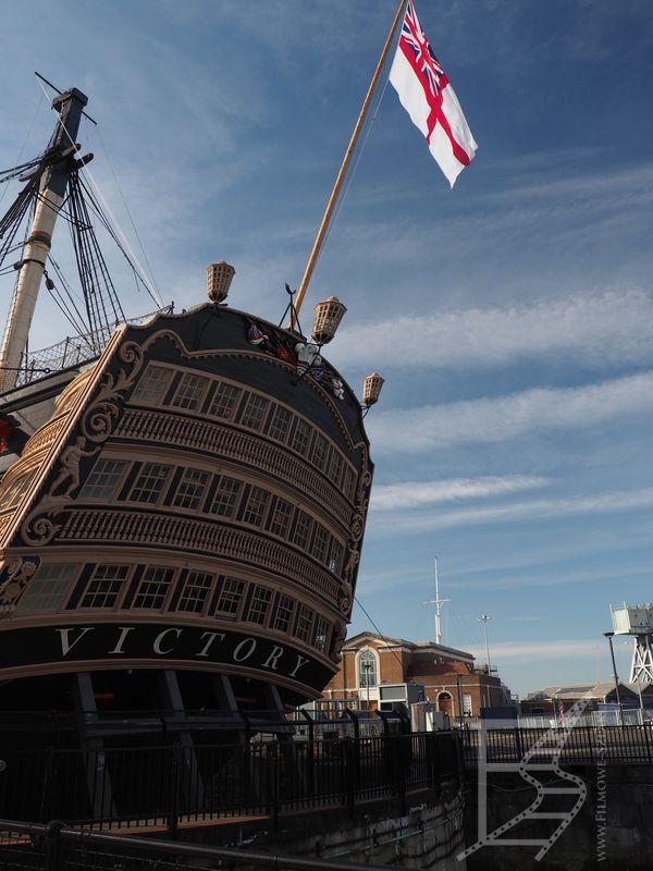 HMS Victory w dokach w Portsmouth