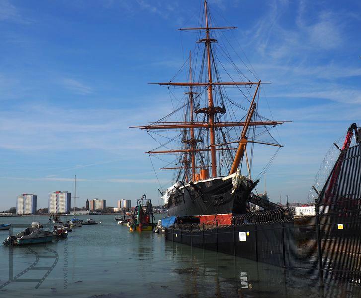 HMS Warrior, doki w Portsmouth