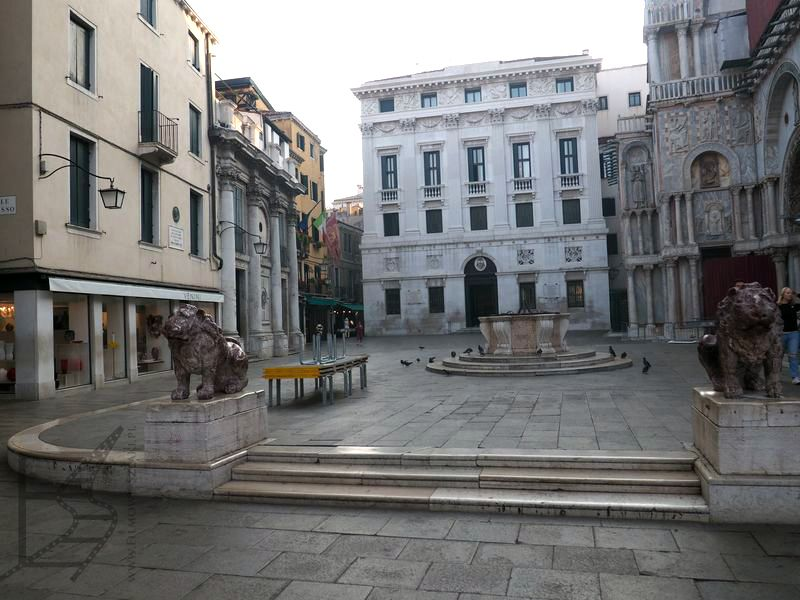 Tu gdzieś była Venini Glass. Po prawej Bazylika św. Marka