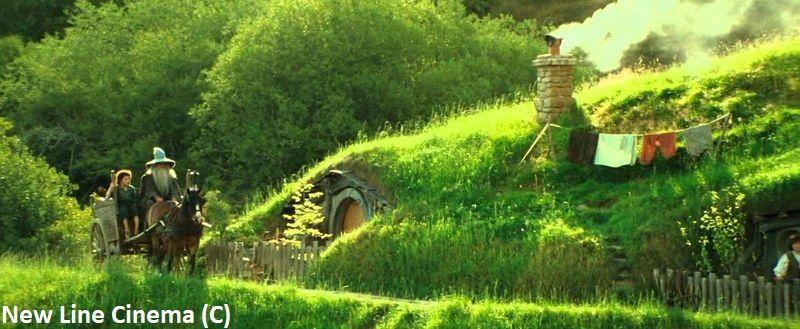 """Gandalf wjeżdża do Shire – """"Władca Pierścieni: Drużyna Pierścienia"""", plan filmy Hobbiton (Nowa Zelandia)"""