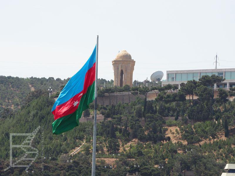 Flaga Azerbejdżanu (Baku, Azerbejdżan)
