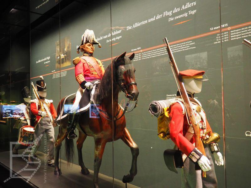 Mundury w muzeum Waterloo