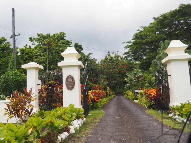 Brama do domu/muzeum Stevensona (Apia, Samoa)