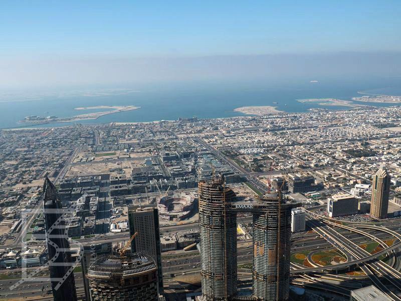 Widok na Dubaj z Burj Khalifa