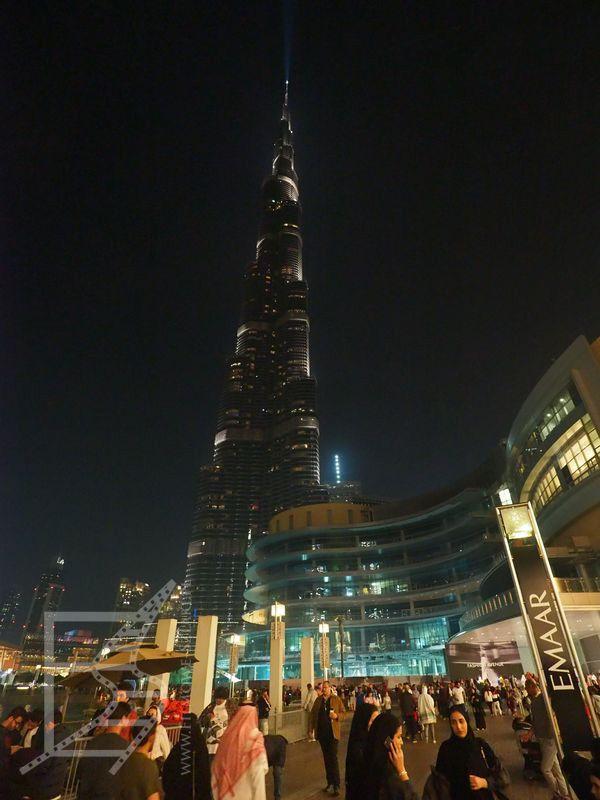 Burdż Chalifa nocą (Dubaj)