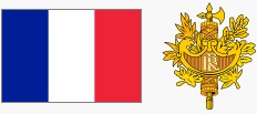 Flaga i godło Francji (za wikipedia.org)