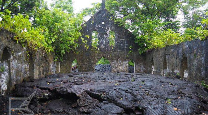 Kościół zalany lawą na Savai'i
