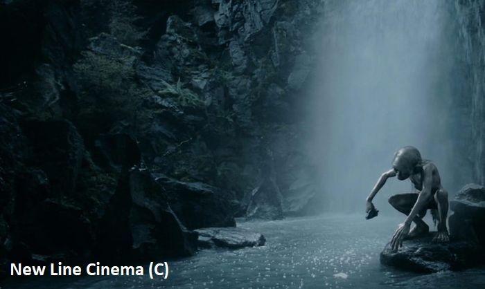 """Gollum w Ithilien. """"Władca Pierścieni: Dwie wieże"""", PN Tongariro i wodospad Tawhai."""