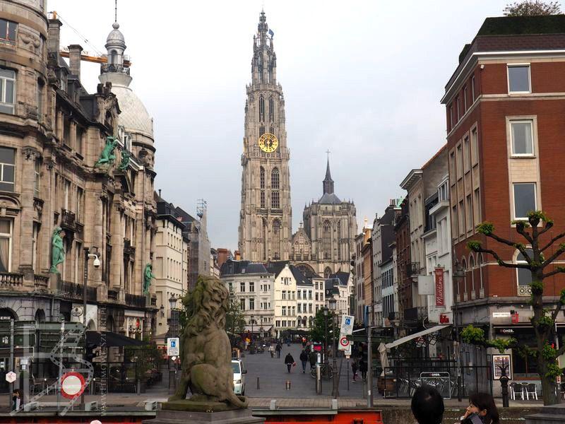 Widok na katedrę Najświętszej Marii Panny (Antwerpia)