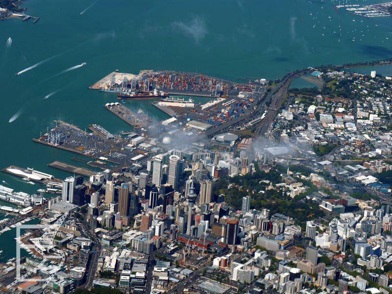 Auckland z samolotu