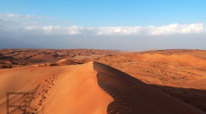 Pustynia piaszczysta w Omanie