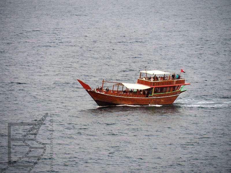 Charakterystyczna łódź omańska
