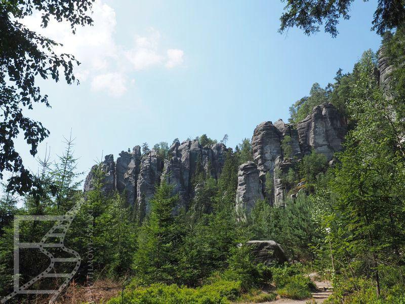 Krajobraz Teplickich Skał