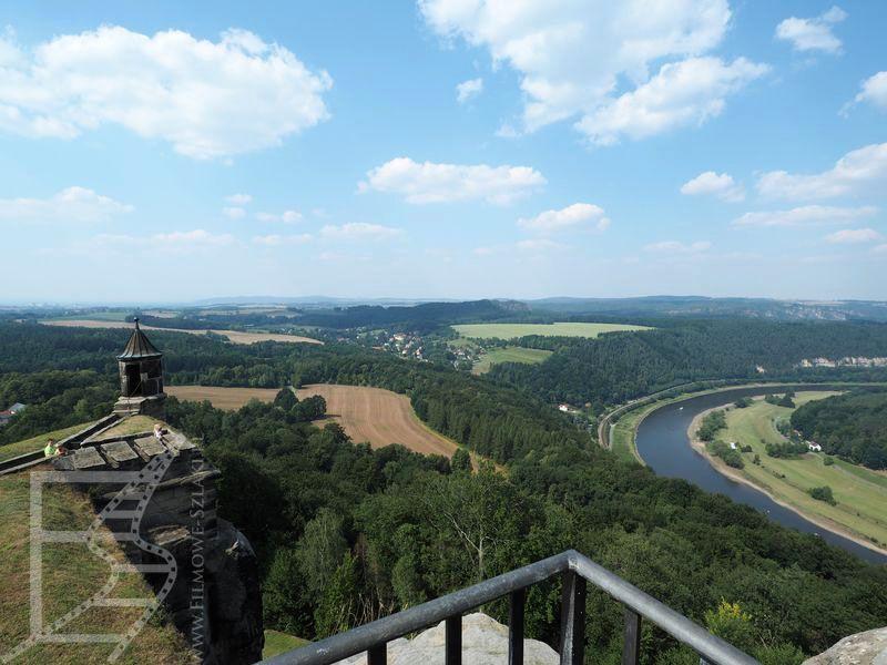 Widok na dolinę Łaby z Königstein