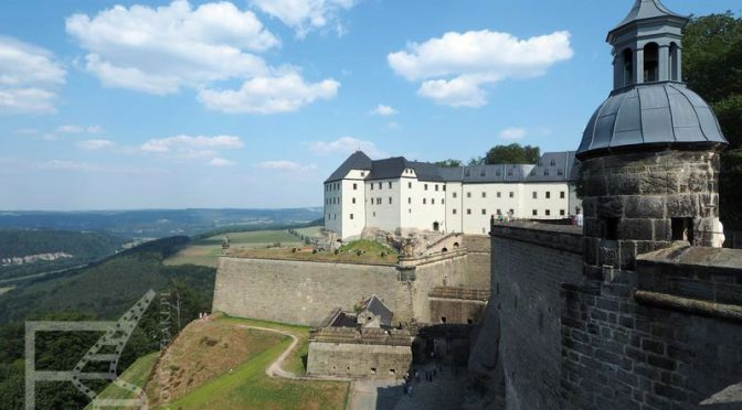 Königstein, twierdza nad Łabą w Niemczech