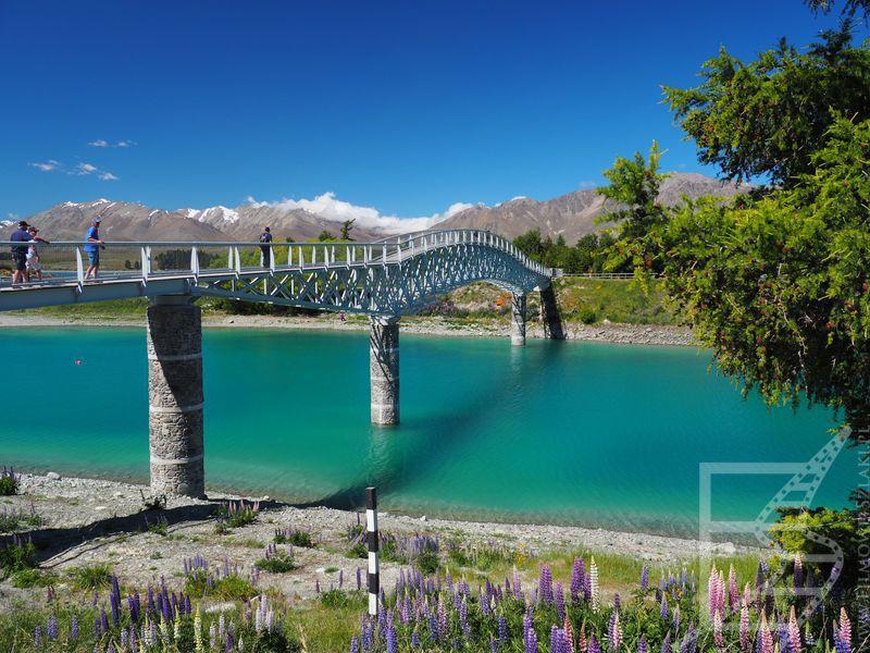Most przy jeziorze Tekapo