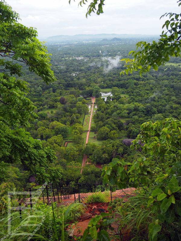 Ogrody pałacowe z góry (Sigirija, Sri Lanka)