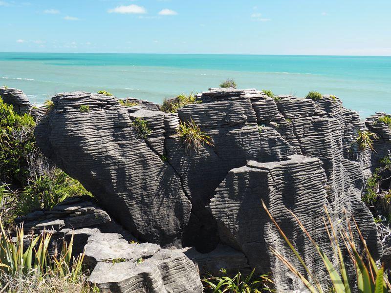 Pancake Rocks i morze Tasmana