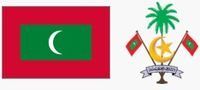 Flaga i godło Malediwów (za wikipedia.org)