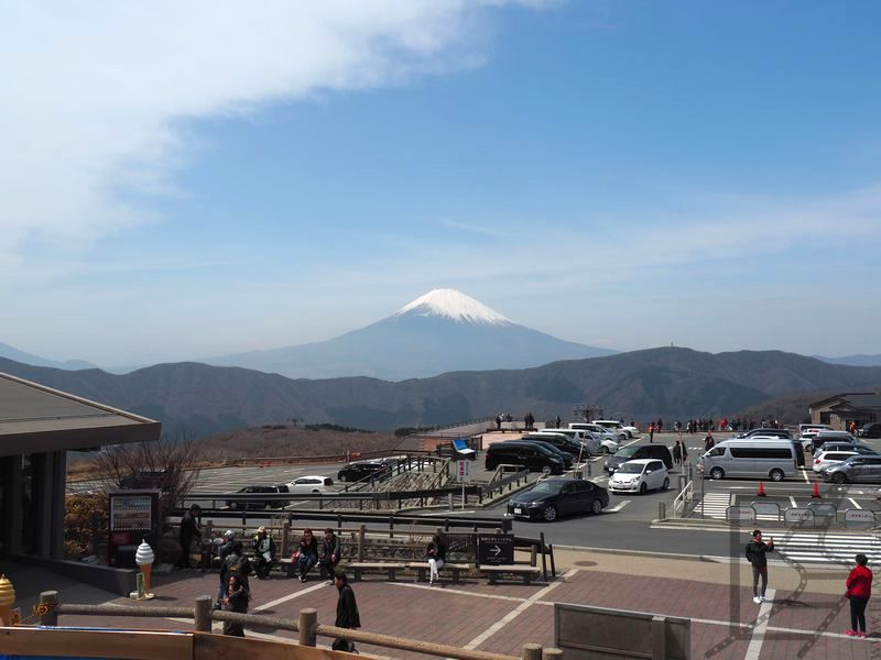 Widok na górę Fudżi z Ōwakudani