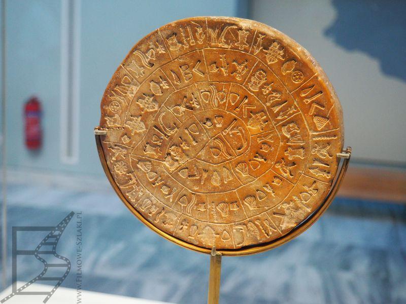 Dysk z Fajstos, jeden z najsłynniejszych eksponatów w muzeum archeologicznym w Heraklionie