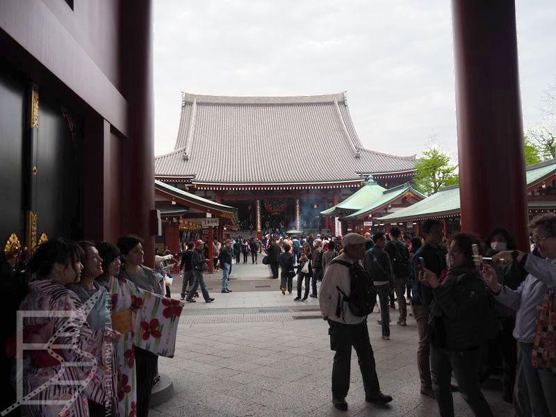 Wejście do Sensō-ji, Asakusa, Tokio