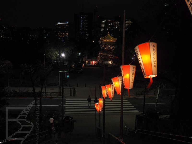 Lampiony w parku Ueno