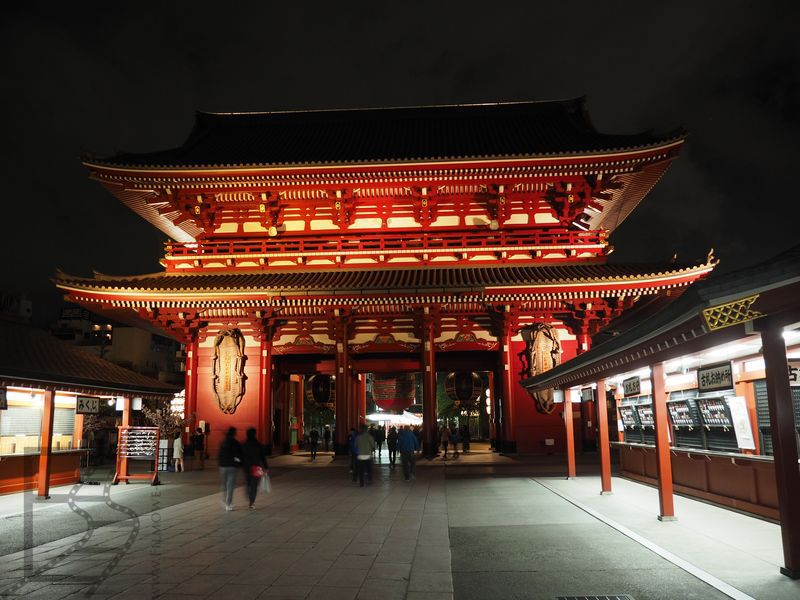 Sensō-ji, Asakusa nocą