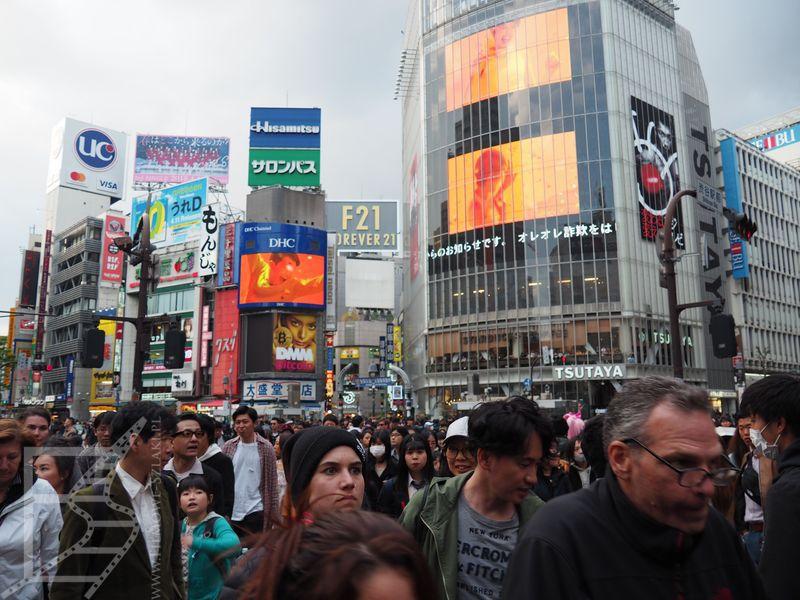 Słynne skrzyżowanie Shibuya