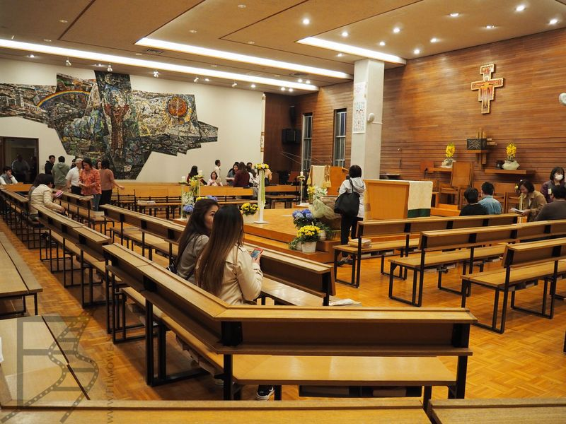 Posoborowy kościół katolicki, Franciscan Chapel Centre w Tokio