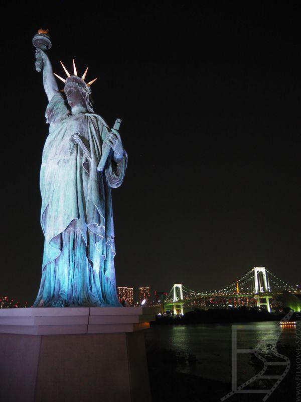 Statua Wolności na wyspie Odaiba