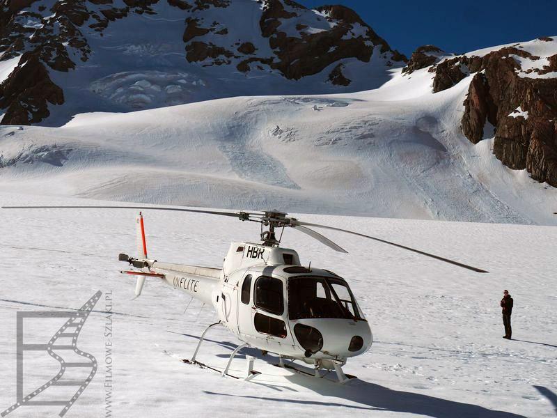 Helikopter, którym lecieliśmy wokół góry Cooka