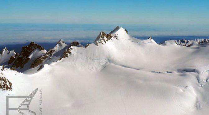 Góra Cooka (Aoraki) i lodowiec Tasmana
