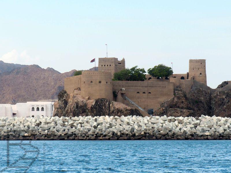 Fort przy Maskacie, Zatoka Omańska