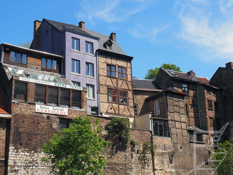 Starsze zabudowania w Liège