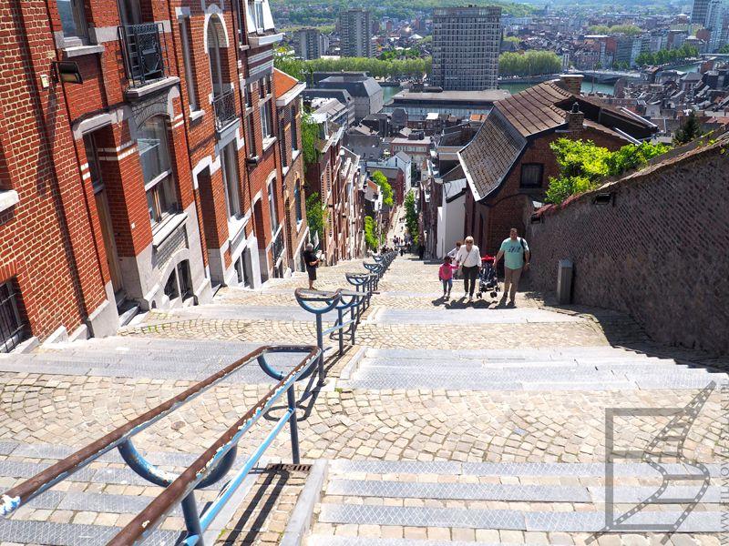 Słynne schody w Liege