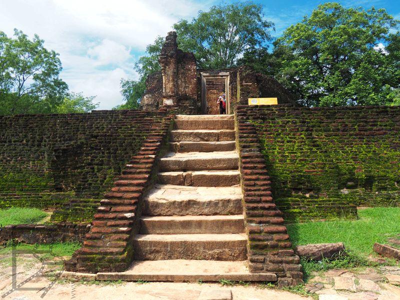 Ruiny pałacu, Polonnaruwa, Sri Lanka