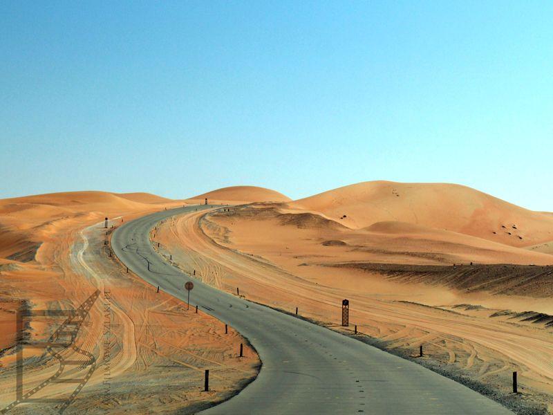 Droga przez pustynię Liwa